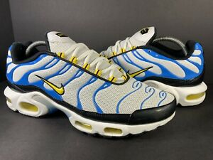 Nike Air Max Plus Tn Paradise White Yellow Blue Men Size 10 Rare 604133-133