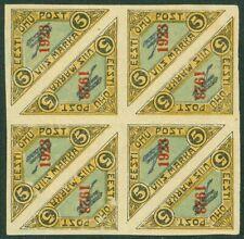 EDW1949SELL : ESTONIA 1923 Sc #C2 Blk of 8 VF Mint lightly disturbed OG Cat $64+
