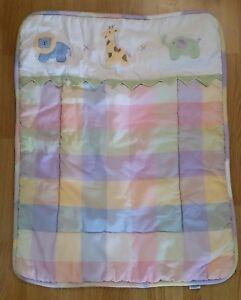 LAMBS & IVY Baby Quilt Crib Blanket Elephant Lion Giraffe Safari Jungle Pastels