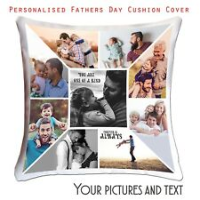 Fathers' Day Personalised Photo Cushion Cover  Collage picture template-Dad-02 ❤