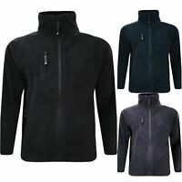 Mens Polar Anti Pill Fleece Jacket Full Zip Up Pocket Work Outdoor Warm Coat