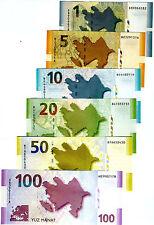 SET Azerbaijan, 1;5;10;20;50;100 Manat 2005-2009 (2010) P-27-28-29-30-31-32 UNC