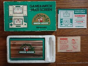 NINTENDO GAME AND & WATCH Green House w/ BOX Manual & Paper 1982 JAPAN