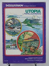 Utopia Game for Intellivision I II Mattel Overlays Instructions & Box Complete