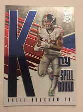 """2017 Donruss Elite Odell Beckham Jr. Spell Bound """"K"""" #rd 5/299 Giants"""