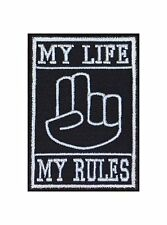 My Life my rules pl *** r Main Biker patches écusson rocker Bügelbild Blouson MC
