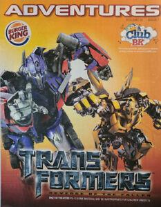 Burger King Adventures 2009 Kids Activity Magazine Vol 20 Issue 7 Transformers