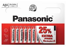 10 x AAA Panasonic Zinc Carbon Batteries LR03 1.5V MN2400 Exp Nov 2019