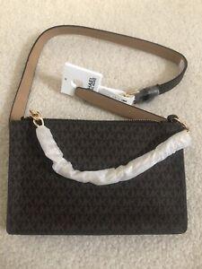NWT Michael Kors Chain Belt Bag Chocolate M