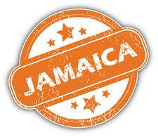 Jamaica Grunge Stamp Car Bumper Sticker Decal 5'' x 4''