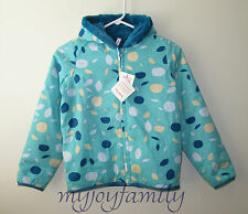 HANNA ANDERSSON Seven Days A Week Reversible Jacket Beachball Blue 130 8 NWT