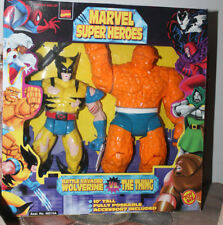 "Marvel Super Hero Battle Ravaged Wolverine Vs The Thing 10"" 1998"