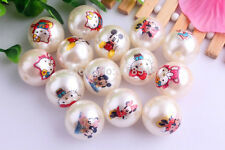 (10) 20mm pearl Minnie Minnie Kitty acrylic chunky bead for bubblegum necklace