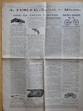 1908-INDUSTRIA E COMMERCIO-ARMI DA CACCIA E DIFESA-POSATE IN ARGENTO