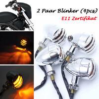 4stk LED Motorrad Blinkleuchte MiniBlinker Signallicht Rollert Licht E11-GEPRÜFT