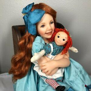 Jane Bradbury Doll My Heart Belongs To You Resin Holding Rag Doll Lifelike