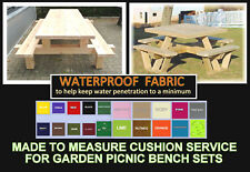 MADE TO MEASURE CUSHION SERVICE FOR PICNIC BENCH SETS HOME & GARDEN FURNITURE