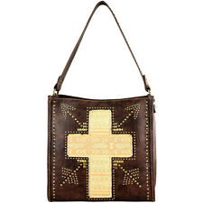 Montana West Spiritual Bling Collection ,Coffee w Vintage Cross