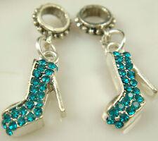 hot European Silver CZ Charm Beads Fit sterling 925 Necklace Bracelet Chain tzv9