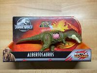 Jurassic World DINO RIVALS Battle Damage Albertosaurus Dinosaur Park Mattel NEW!