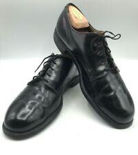 Vintage Genesco Men's Shoes Black Leather size 10, Military, Dress Oxfords 1976