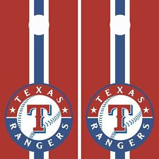 DOUBLE Texas Rangers Cornhole Wrap Vinyl Board MLB Baseball Team Decal CG3148-2