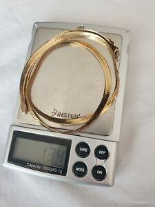 14k Yellow Gold Herringbone Necklace 20in x 5mm wide (13.4 grams)