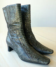 Bottines à talon en python low boots 35 LORBAC python high heel booties UK 2,5