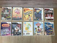 Nintendo Wii bundle/Joblot 10 games with case