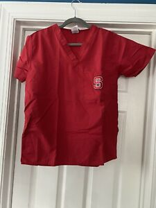 Get Scrubs NC State Red Scrubs Top And Bottoms Pants Size Medium