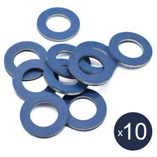 Set of 10 Oil Drain Sump Plug Washers Gasket 12mm Hole For Toyota OE#90430-12031