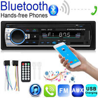 Car Stereo In Dash Single 1DIN Bluetooth MP3 Player Aux USB FM Radio Head Unit