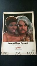Leon & Mary Russell Second Album Together Rare Original Print Promo Poster Ad