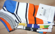 4 Paar Kindersocken / Sneaker Gr.: 35 - 38 mehrfarbig gestreift / NEU,  X / 59