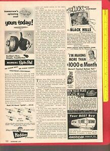 Vintage Original 1954 HEDDON Ad Model 240 Manual SPIN PAL Spinning Reels
