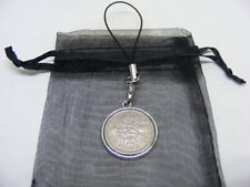 1964 Lucky Sixpence Mobile Phone / Handbag Charm - Nice Birthday Present