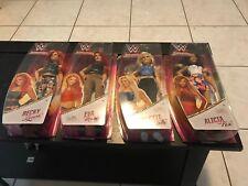 "WWE SUPERSTARS 12"" DOLLS LOT OF 4 BECKY LYNCH/EVA MARIE/CHARLOTTE/ALICA FOX MOC"