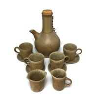 11 Pcs Gordon + Jane Martz Marshall Studios Pottery Coffee Tea Pot Carafe Cups