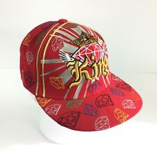 KING & Diamonds Cap Hat City Hunter High Profile Flat Embroidery Bling Hip Hop L