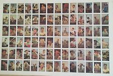 1983 B.G.H.L.I. -1953 Bowman Color Uncut Sheet Reprint Baseball Cards #85-160