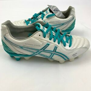 Asics Lethal Stats Soccer Cleats Women's 10 white blue green P156L rhyno skin