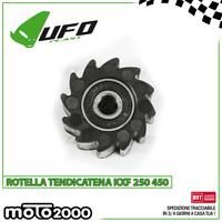 ROTELLA TENDICATENA UFO PLAST NERA PER KAWASAKI KXF 250 450 - 2009 2017