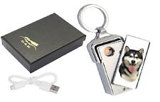 Alaskan Malamut Hund Design USB aufladbare Flammenlose Feuerzeug usblmala - 2