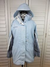 Columbia Hooded Jacket Women's Medium Blue Gray Full Zip Hoodie Coat Ladies