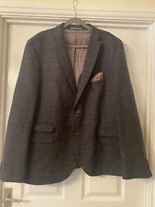 Mens NEXT 50L Check Blazer Wedding Suit Jacket Occasion Worn Once