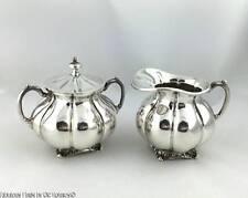 Vintage SANBORNS Sterling Silver Creamer and Lidded Sugar Mexico Jensen Style