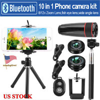 HD 12x/8x Optical Zoom Camera Telescope Lens With Clip For iPhone8 / iPhone X