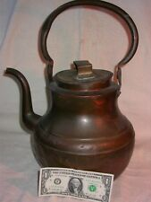 Antique, LARGE, Hand Wrought, Copper Water / Tea Pot