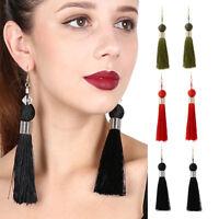 EG_ Fashion Women's Ear Hook Tassel Dangle Statement Earrings Jewelry Gift Utili