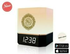 More details for full quran smart cube speaker with lamp, app control, clock, azan set